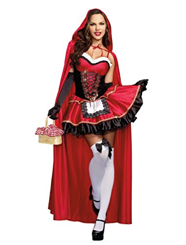 Dreamgirl Women's Little Red Riding Hood Costume, Small,