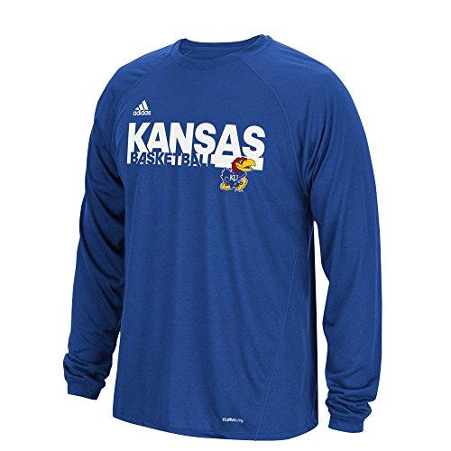 Kansas Adidas Shorts Jayhawks (adidas NCAA Kansas Jayhawks Mens Sideline Grind Climalite L/S Teesideline Grind Climalite L/S Tee, Collegiate Royal, XX-Large)