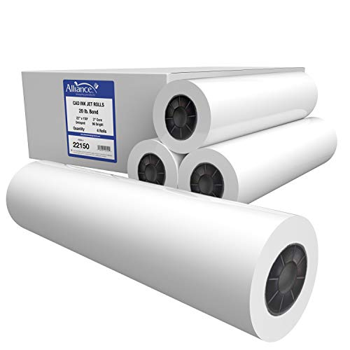 "Alliance CAD Paper Rolls, 22"" x 150', 96"