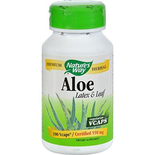 Nature's Way Aloe Vera Latex and Leaf - 100 Vegetarian Capsu