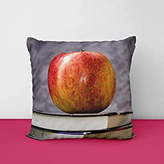 41wy t882mL. SS320 Book Apple Square Design Printed Cushion Cover