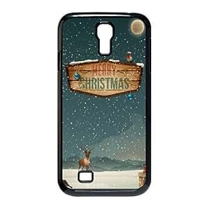 Merry Christmas Raindeer Presents Samsung Galaxy S4 9500 Cell Phone Case Black Pretty Present zhm004_5959449