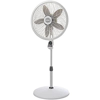 "18"" Oscillating Pedestal Stand Fan Remote Control Energy Efficient High Performance, White"