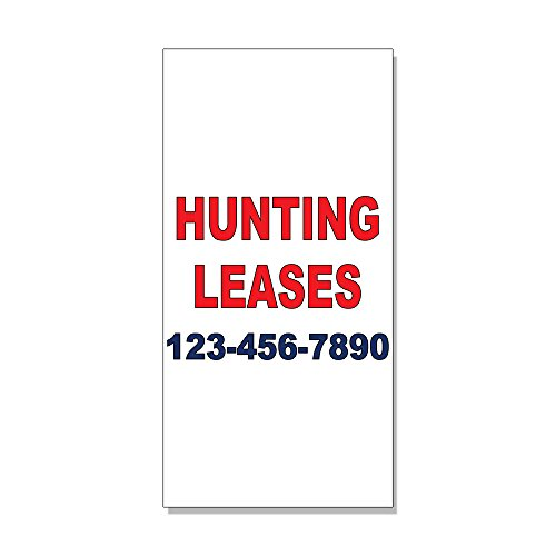 Review Hunting Leases Phone Custom Red Blue Custom DECAL STICKER Retail Store Sign – 9.5 x 24 inches