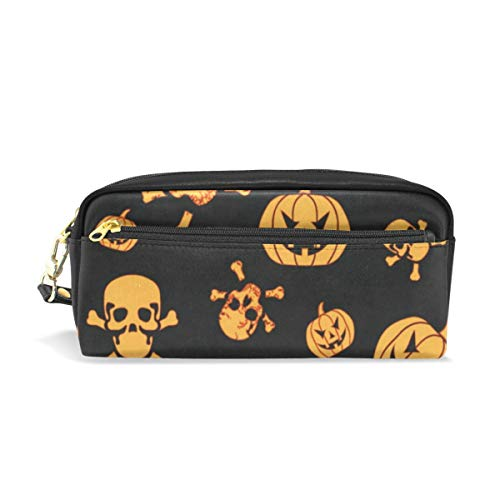 (Pencil Case/Makeup Bags Halloween Pumpkin and Ghost Big Capacity Portable Pencil Bag for College)