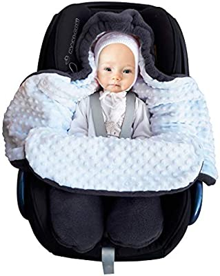 Peg-P/érego Polar Afelpado y algod/ón Maxi-cosi saco reci/én nacido fabricado en Europa grupo 0 para Silla de coche cochecito SWADDYL Beb/é ni/ño envolver manta Azul