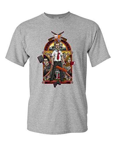 (Shaun of The Nouveau Zombies Salih Gonenli Artworks Funny Parody DT Adult T-Shirt Tee (XXXXX Large, Sports Gray))