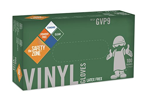 Disposable Vinyl Gloves - Powder Free, Clear, Latex Free and Allergy Free, Plastic, Work, Food Service, Cleaning, Wholesale Cheap, Size Extra Large (Box of 100)