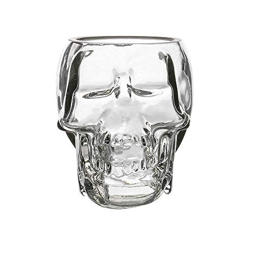 Crystal Skull Head Cup Pirate Shot Glass for Wine Vodka Whiskey Cocktail Party Bar Cup]()