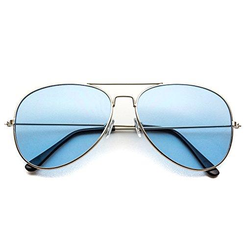 Aviator Blue Lens Sunglasses for Men - 2