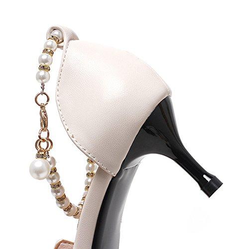 Ajunr mancia Da estate 5 una scarpe Beige art vintage folk Sandali Alla in cm Moda ricamato Donna stile con con femmina di scarpe bella rrOpn4A