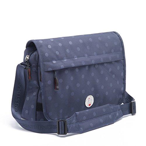 CRISTINA GIRL Women's Cross Body Bag Nylon Polka Dot Ava Collection (Oxford Blue)