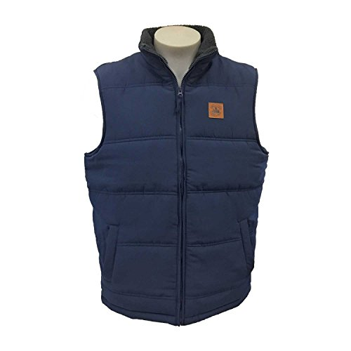 Field & Stream Men's Explorer Quilted Full Zip Vest Deep Navy (Poly Fill Quilted Vest)