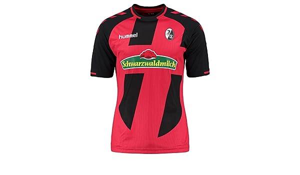 Hummel - Camiseta de fútbol para Hombre, Color Rojo y Negro, tamaño Small: Amazon.es: Deportes y aire libre