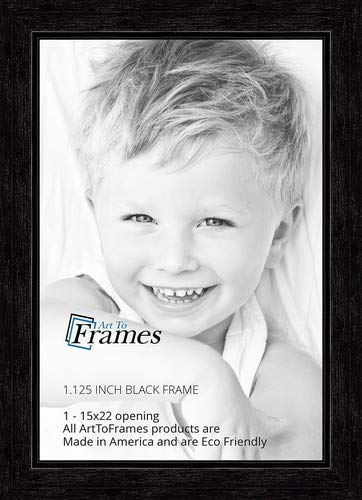 (ArtToFrames 15x22 inch Black Stain on Maple Wood Picture Frame, 2WOM0066-80209-YBLK-15x22)