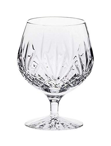(Royal Scot Crystal Hand Cut Crystal Single 12oz Crystal Brandy Glass in Highland Design with Presentation Box | Scottish Crystal)