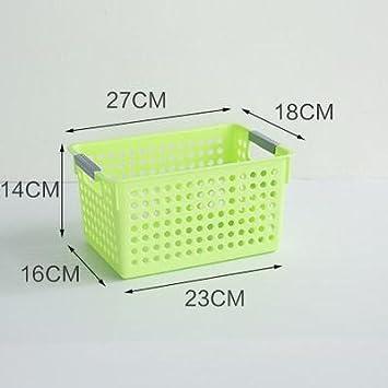 Z&HAO Caja de Almacenamiento Cocina de plástico Creativa Cesta de Fruta Cesta de Almacenamiento de Escritorio