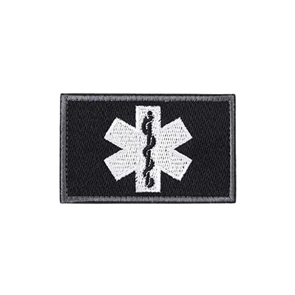 zrshygs Parche de Bordado Técnico de emergencias EMT Insignia de Brazalete de Moral táctica - Azul 6