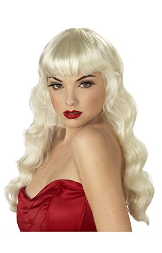 Hollywood Pin Up Costumes (Pin Up Girl Hollywood Glamour Halloween Costume Wig (Blonde))