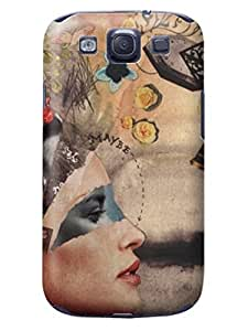 LarryToliver cheap samsung Galaxy s3 Case Slim KickStand Style, Extra Thin, Customizable Creative Collage Arts For Girl pictures Cases Stand #1