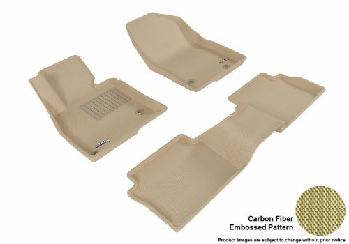 3D MAXpider Complete Set Custom Fit All-Weather Floor Mat for Select Mazda3 Models - Kagu Rubber (Tan) (Cargo Trunk Cover Mazda3 compare prices)