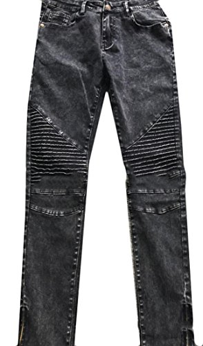 Jaycargogo Womens Fashion Stretch Skinny Pressed Pleat Pants Trousers black - Petite Pleats Trousers