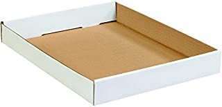 """product image for Partners Brand P15122CTW Corrugated Trays, 15""""L x 12""""W x 1 3/4""""H, White (Pack of 50)"""