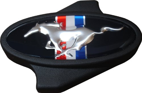 Proform 302-338 Black Crinkle Air Cleaner Wing Nut with Ford Mustang Running Horse Logo for 1/4-20