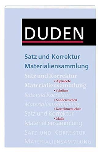 Duden Satz Und Korrektur Materialien Dudenredaktion Bücher