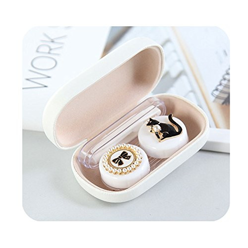 Cute Little Animal Contact Lens Case Plastic Contact Lens Accessories Mirror Container Holder Superior - Lenses Novelty