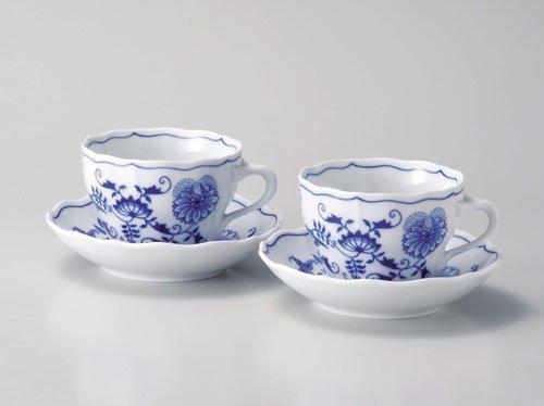 (Carlsbad Blue Onion coffee ( tea ) cup u0026 saucer pair)