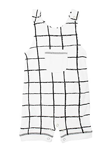 L'ovedbaby Unisex-Baby 100% Organic Cotton Sleeveless Romper (Hopscotch, 6-9 Months)