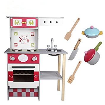 Amazon.com: vory Wood Kitchen Toy for Kids,Kids Wooden Toys ...