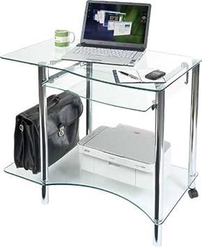 ice glass workstation tempered glass computer workstation desk