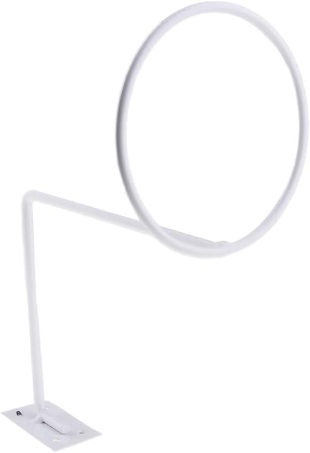 D DOLITY White Steel Helmet Holder Jacket Hanger Wall Mounted Multifunctional Rack 2 Pack Motorcycle Accessories