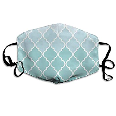 Yj-jjj Customized Ombre Moroccan Trellis Latticework - Blue White Comfortable Breathable Mask, Universal Respirator Mask for Men and Women to Protect The Face