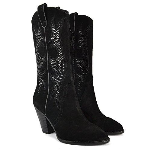 Zapatos Joyce Ash Mujer Botas De Negro Ante dapqBp