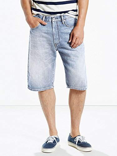 Levi's Men's 569 Loose Straight Fit Short, Clean Groovin, 36 (Loose 569 Straight Shorts Jean)
