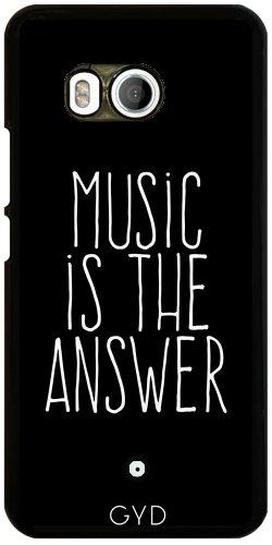 Funda para Htc U11 - La Música Es La Respuesta by wamdesign