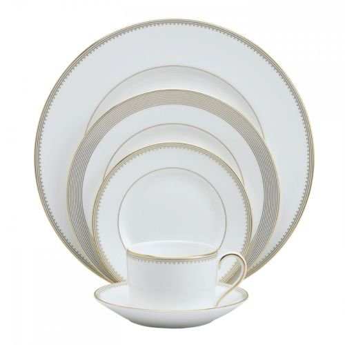 (Vera Wang Wedgwood Golden Grosgrain Five-Piece Place Setting)
