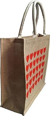 KVR Eco Environment Friendly natural Jute burlap grocery shopping tote bag