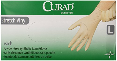 Price comparison product image Curad Stretch Vinyl,  Large,  150 Count