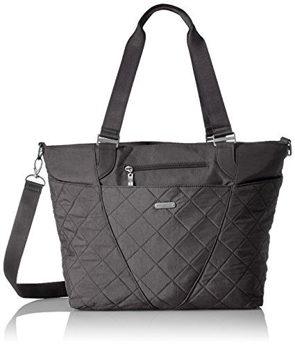 - Baggallini Quilted Avenue Tote with RFID, PewterQuilt