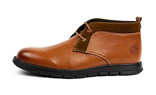 JAS Mode Herren Schnürer Chelsea Knöchel Komfort Retro Stiefel Lässig Elegant Office Schuhe Kamel
