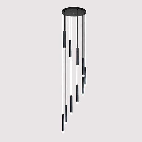 Mark Lámpara de Escalera Larga dúplex, araña Simple nórdica Creativa, Varias lámparas de araña en Diferentes restaurantes postmodernos,50 * 200 cm: Amazon.es: Deportes y aire libre