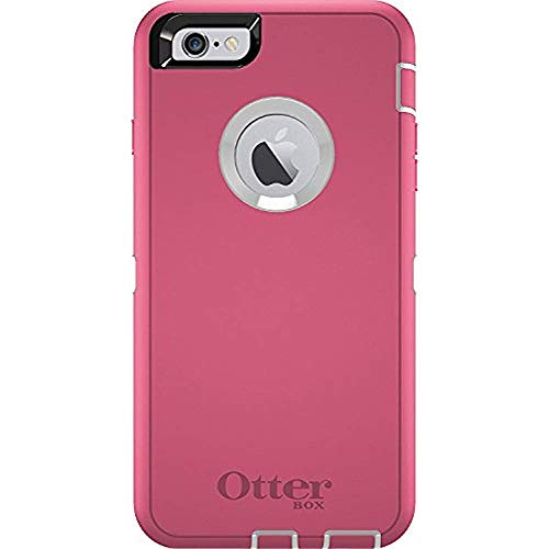 Rugged Protection OtterBox Defender Case for iPhone 6 Plus, 6s Plus - Bulk Packaging - (White/Hibiscus Pink) (Gold Otterbox Iphone 6 Defender)