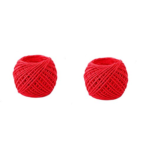 (2 Roll 164 Feet Colored Jute Twine,Handmade Tag Rope,2mm DIY Decorative Hemp Rope.Used in Art,DIY Crafts and Gift Wraps,Bottle Decorations,Photo Displays and Decorations (K) )
