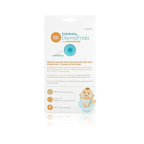 Baby Bath Silicone Brush by Fridababy | DermaFrida The SkinSoother Baby Essential for Dry Skin, Cradle Cap and Eczema (2 Pack)