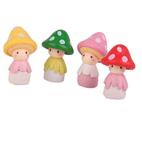 4pcs Miniature Dollhouse Bonsai Fairy Garden Landscape Mushroom Doll Decor