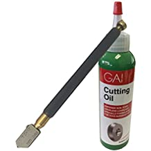 Toyo TC17B Metal Handle Straight Head Oil Cutter and Glass Cutting Oil